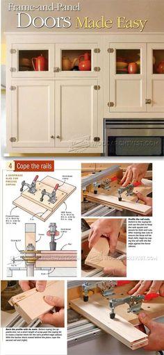 Making Frame and Panel Doors - Cabinet Door Construction Techniques | WoodArchivist.com