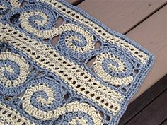 Ravelry: Spirals Throw pattern by Marilyn Losee