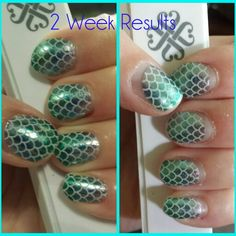 I am wearing the wrap called Mermaid Tales and wore then for 2 weeks.  www.JamminNailswithLiz.jamberry.com