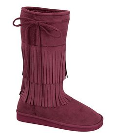Look at this Link Burgundy Fringe Aling Boot on today! Katies Fashion, Girly Girl, Girl Fashion, That Look, Burgundy, Wedges, Girl Style, Boots, Cute