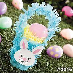 Crepe Paper Fringe Easter Basket Cup Idea