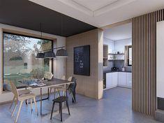 Projekt domu Alicja N 2G+ 138,55 m2 - koszt budowy 248 tys. zł - EXTRADOM Model House Plan, House Plans, House Outside Design, Design Case, Home Fashion, Home Projects, My House, Living Room Decor, How To Plan