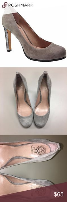 Vince Camuto Jensen Gray/Sparkle Suede Pumps SZ 10 Only wore once... Like New Excellent Condition!!! No stains rips or tears. Vince Camuto Shoes Heels