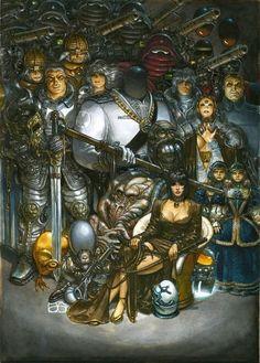_House of the Ancestors Art by Juan Gimenez Arte Sci Fi, Sci Fi Art, Comic Book Artists, Comic Artist, Sci Fi Fantasy, Dark Fantasy, Bilal, Heavy Metal Art, Arte Cyberpunk