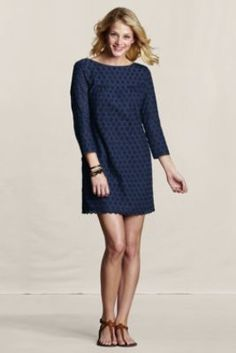 Women's Allover Eyelet Dress from Lands' End Canvas- not sure if this is a tall model or not appropriate for a 50 year old woman...thoughts?