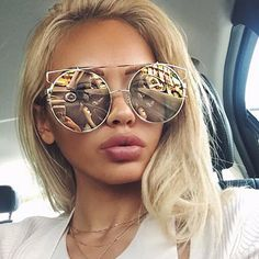 $29.99 Double Wire Oversized Sun Glasses