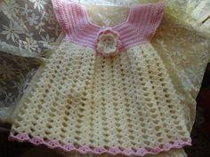 MIL AZAHARES BLANCOS: Vestido en lana para bebé de 3 a 6 meses