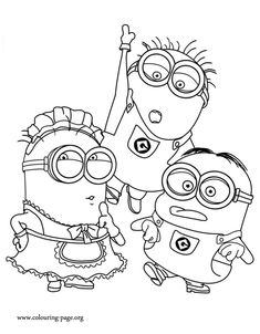 In this beautiful picture are Tom, Mark and Phil. While you waiting for the Minions movie, have fun with this free printable coloring page!