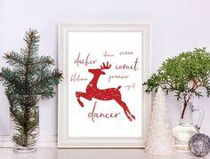 Free Reindeer Christmas Printable – Scrap Booking wall art