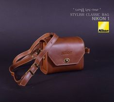 Stylish Classic Shoulder Camera NIKON 1 BAG II Brown Color #Nikon