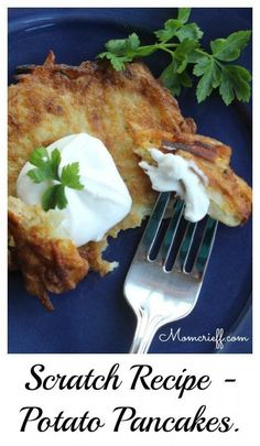 Potato Pancakes. A different spin on potato.
