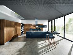 Modern - Kitchen - Design | Glass Matt Indigo Blue | Old Oak | Next 125 German Kitchens #germankitchens #kitchendesign #next125 #luxurykitchens