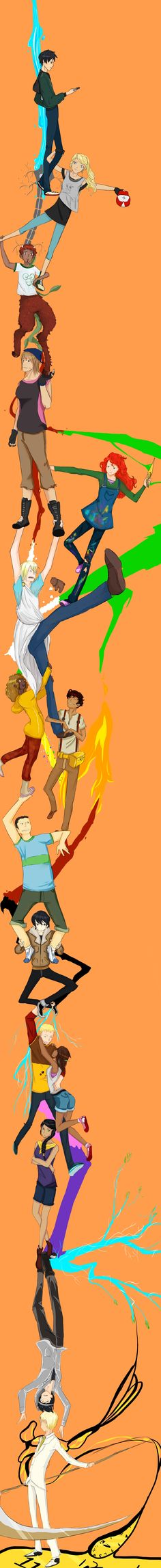 'Percy Jackson and The Olympians' and 'The Heroes of Olympus' . Durarara style