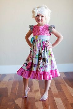 SALE...Buy 1 Get 1 Free...PDF Sewing Pattern Tutorial Antique Fair Girl's Vintage Style Flutter Sleeve Dress, Sizes 12-18 months through 6. $7.00, via Etsy.