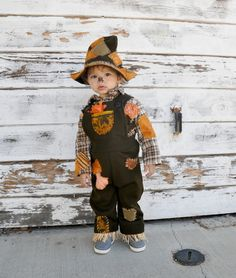 scarecrow costume babies boys toddler Kids children infant Halloween costumes.. $139.00, via Etsy.
