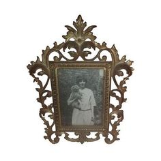 Antique Ornate Brass Frame ($149) ❤ liked on Polyvore featuring home, home decor, frames, decorative objects, 4x6 collage picture frames, antique brass picture frames, ornate frames, brass picture frames and antique home decor