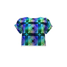 Named Clothing Inari Crop Tee made with Spoonflower designs on Sprout Patterns. A rainbow tiles designs, looking like crystal Named Clothing, Web 2, Crop Tee, Spoonflower, Tiles, Men Casual, Sew, Rainbow, Patterns