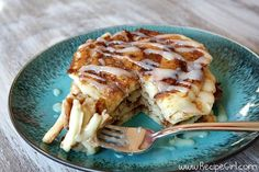 Cinnamon Roll Pancakes - Link To Pumpkin & Gingerbread Pancakes Too! Yum - Yum And Yum