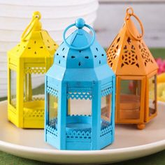 Mini Hurricane Tealight Lantern by Beau-coup