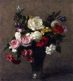 Bouquet-Of-Flowers-by-Henri-Fantin-Latour-Oil-Painting-Reproduction-28-x-32