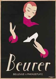 BEURER Art Deco Poster by Hugo Laubi. 1924. @designerwallace