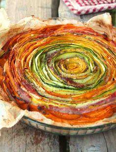 Tarte courgettes jaunes et vertes, carottes & jambon › À tester...