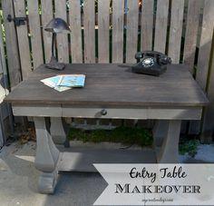 Entry Table Makeover MyCreativeDays.com