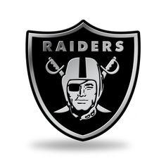 Oakland Raiders Logo 3D Chrome Auto Emblem NEW!! Truck or Car! Rico NCAA