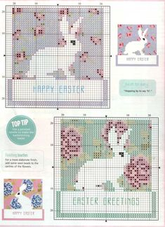 Point de croix ❤️✼❤️✼Easter - free cross stitch pattern