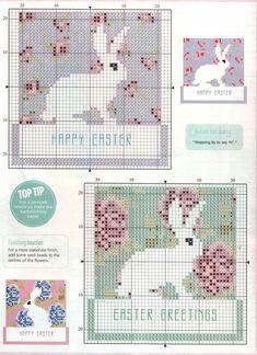 Point de croix ❤️✼❤️✼Easter - free cross stitch pattern