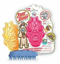 KONG Zoom Groom - Soft Pink - http://www.thepuppy.org/kong-zoom-groom-soft-pink/