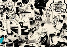 Matthieu Bessudo aka Mc Bess - Surreal illustration in black and white