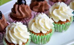 Amarena Schoko Karotte Kokos Mini-Cupcakes