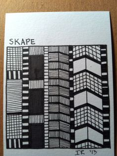 Skape-my own design. I think it looks like skyscrapers.