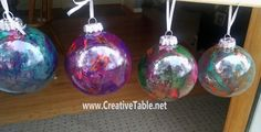 DIY Christmas Ornaments - A Little SPiT Makes These Fabulous
