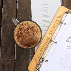 It's not Monday without coffee (liqueur)  Our Stay Woke cocktail features our Songbird Coffee Liqueur Hopscotch cold brew curry tincture and coconut cream--just the recipe to kick the Monday blues. #craftspirits #cardinalspirits #craftcocktails #drinklocal #mondayblues #bloomingtonin