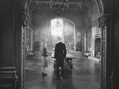 Hitchcock's Rebecca (1940), Manderley great hall; Art direction by Lyle Wheeler.