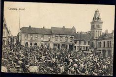 Vestfold fylke  TØNSBERG. Torget med yrende folkeliv Brukt 1913