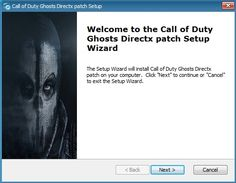 """Download Call of Duty Ghosts Directx Patch v2.0 by SKTeam Fix for most common """"directx unrecoverable error"""" Add support for Directx 9 or Directx 10 Improved FPS...and more"""