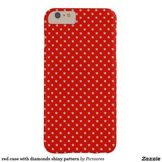 red case with diamonds shiny pattern barely there iPhone 6 plus case