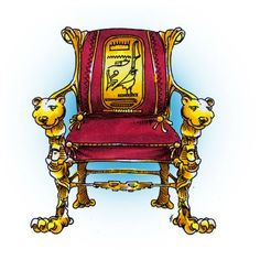 Egyptian Chair Digi Stamp in Digital images
