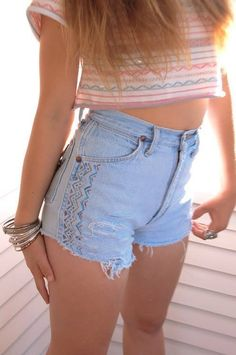 High waist shorts...........now If they were just as long as the any other pair of shorts.