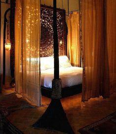 rideaux autour du lit deco chambre