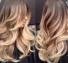 Altın Sarısı Ombre Saç