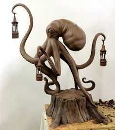 Walktopus, A Work-In-Progress Bronze Sculpture by Scott Musgrove