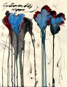 "topcat77:  Cy Twombly  American artist, b. 1928 ""Untitled Study (#1)""2004  Oil and acrylic on paper"
