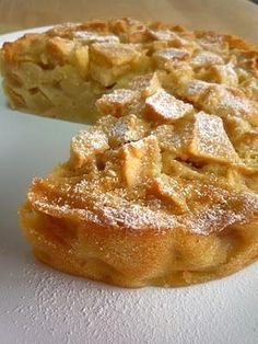 FRENCH APPLE CAKE cup + 1 tbsp all purpose flour tsp baking powder tsp salt 3 very large apples, peeled, cored and chopped into chunks 1 large eggs cup sugar 2 tbsp rum 1 tsp vanilla 1 stick butter, melted and cooled. Bake preheated oven for minutes Apple Recipes, Sweet Recipes, Cake Recipes, Dessert Recipes, Buffet Recipes, Food Cakes, Cupcake Cakes, Cupcakes, Just Desserts