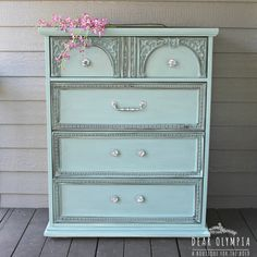 Duck Blue Furniture Transformation - I can't get enough Duck!