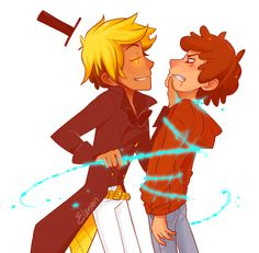 Human Bill Cipher and Dipper
