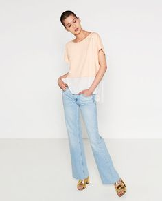 Image 1 of CONTRAST T-SHIRT from Zara
